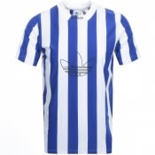Product Image for Adidas Originals Stripe Jersey T Shirt Blue