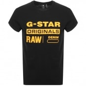 Product Image for G Star Raw Logo T Shirt Black